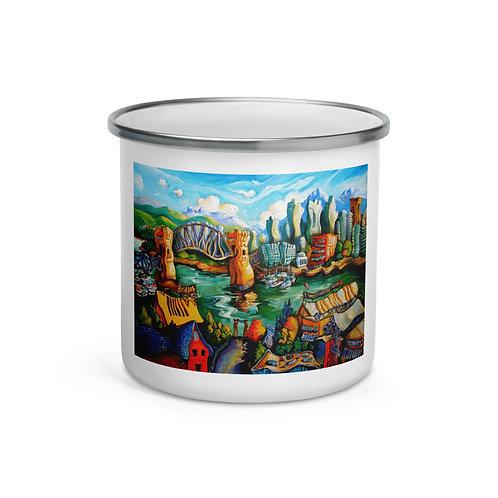 """Enamel Mug """"Granville Island"""" by """"LauraZee"""""""