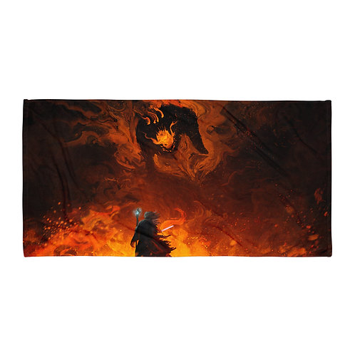 "Beach Towel ""The Shadow and the Flame"" by ""Anatofinnstark"""