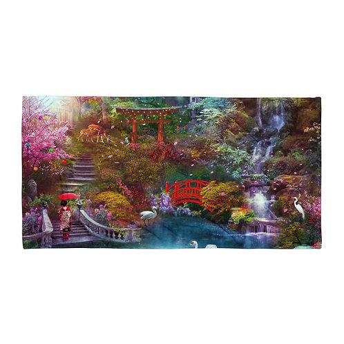 "Beach Towel ""My Japanese Garden"" by ""phatpuppyart-studios"""