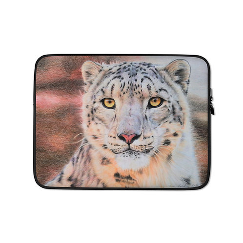 "Laptop sleeve ""Snow Leopard"" by Beckykidus"