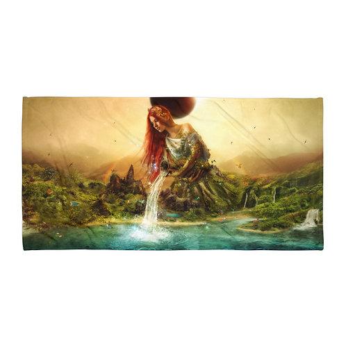 "Beach Towel ""Fountain of Eternity"" by ""Aegis-Illustration"""