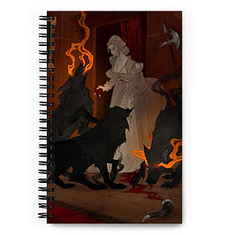 """Notebook """"Hungry Hellhounds"""" by AbigailLarson"""