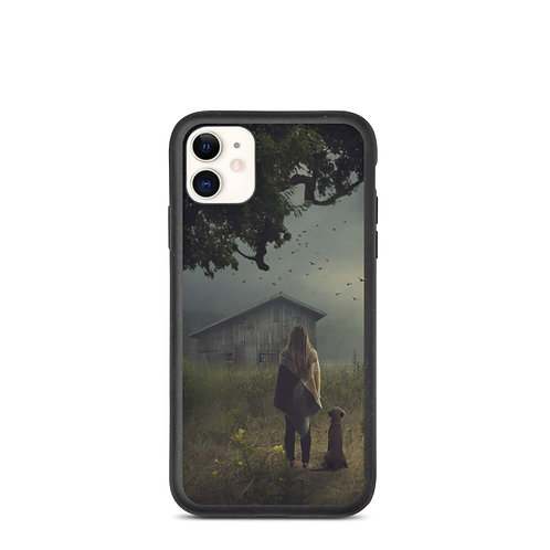 """iPhone case """"The Lake Cabin"""" by Elysekh"""