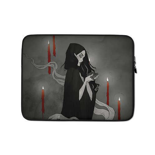 """Laptop sleeve """"Toil and Trouble"""" by AbigailLarson"""