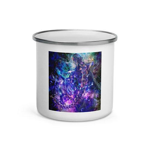 """Enamel Mug """"Hymn of Gathering Stars"""" by Solar-sea"""