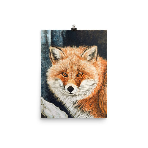 """Poster """"Red Fox Fire and Frost"""" by Beckykidus"""