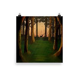 "Poster ""Hunter's Path"" by Saddielynn"
