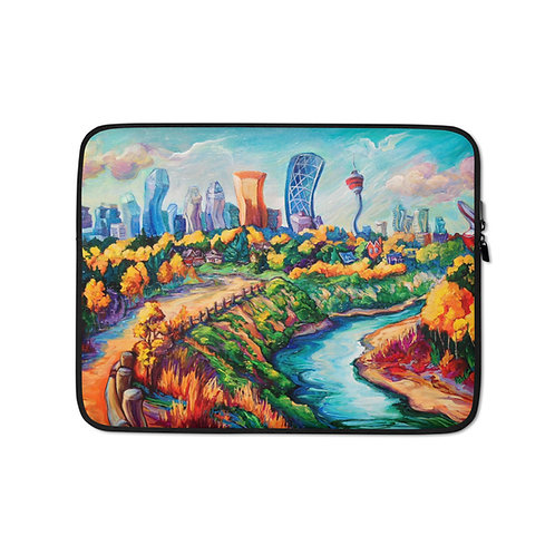 "Laptop sleeve ""Calgary Horizon"" by LauraZee"