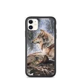 "iPhone case ""Wolf Waterfall"" by Beckykidus"