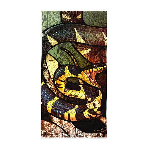 "Beach Towel ""Mangrove Snake"" by ""Culpeo-Fox"""