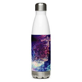 """Water Bottle """"Eagle and the Space Carp"""" by Solar-sea"""