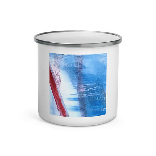 "Enamel Mug ""Blue Ribbon"" by ""MikeOncley"""