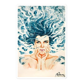 "Stickers ""Drown"" by Bikangarts"