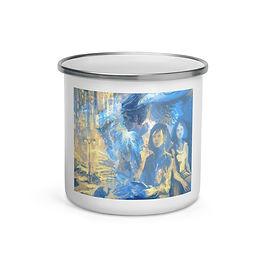 """Enamel Mug """"Megapolis Desert"""" by Solar-sea"""