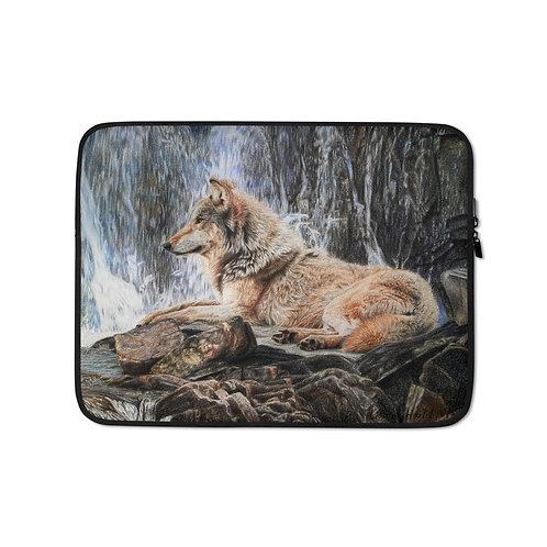 "Laptop sleeve ""Wolf Waterfall"" by Beckykidus"