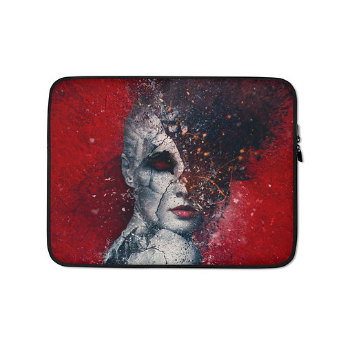 """Laptop sleeve """"Indifference"""" by Aegis-Illustration"""