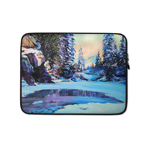"Laptop sleeve ""Cold Winter"" by Gudzart"