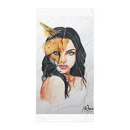 "Beach Towel ""A Beautiful Beast"" by Bikangarts"