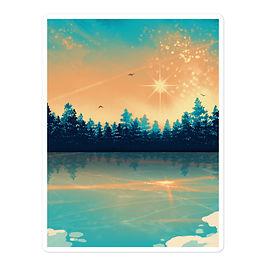 "Stickers ""Winter Reflection "" by Saddielynn"