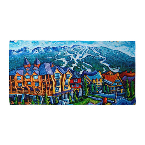 "Beach Towel ""Whistler Village"" by ""LauraZee"""
