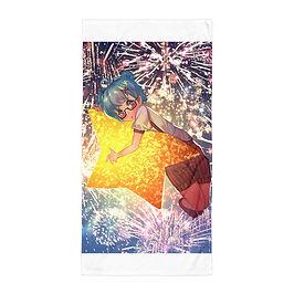 "Beach Towel ""Star Girl"" by Pigliicorn"
