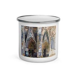 """Enamel Mug """"Koin Cathedral"""" by """"Takmaj"""""""