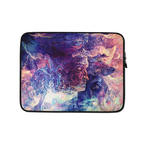 """Laptop sleeve """"Eagle and the Space Carp"""" by Solar-sea"""