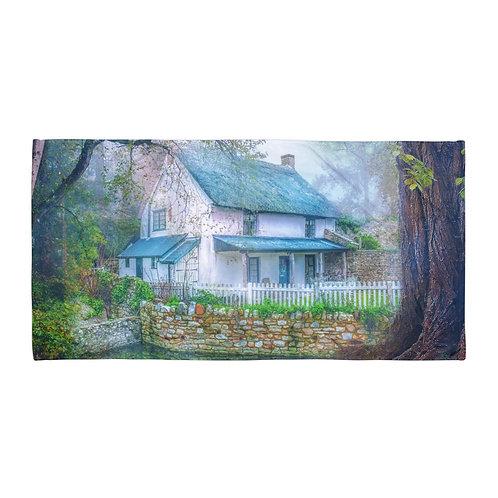 "Beach Towel ""Country Cottage"" by ""phatpuppyart-studios"""