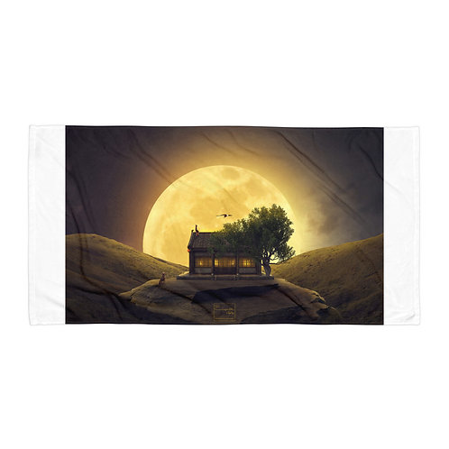 """Beach Towel """"The Magic of the Supermoon"""" by Elysekh"""