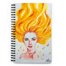 "Notebook ""Burn"" by Bikangarts"