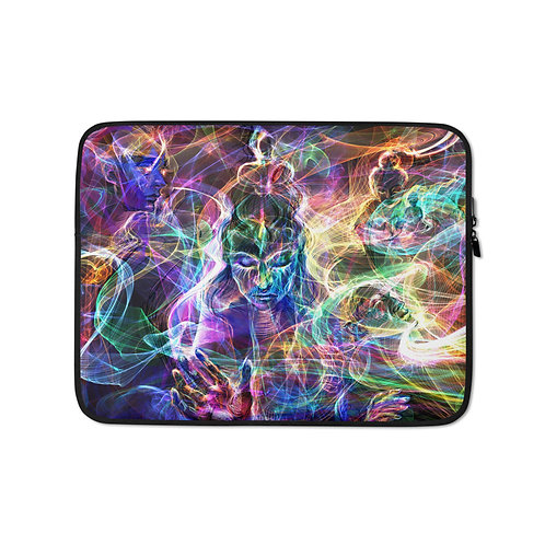 """Laptop sleeve """"Plans of Creation"""" by Solar-sea"""