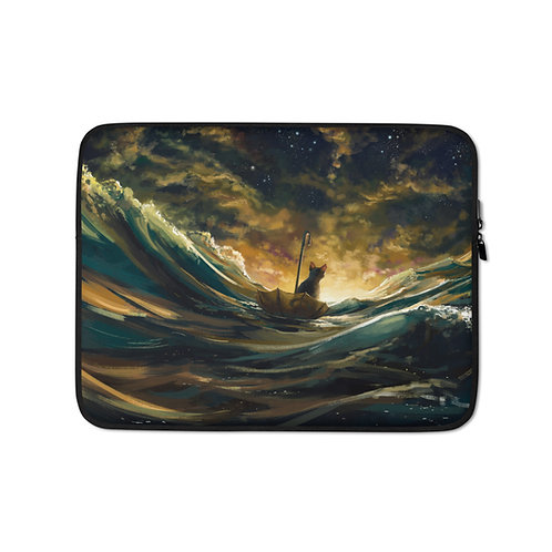 """Laptop sleeve """"Lost At Sea 2.0"""" by Hymnodi"""