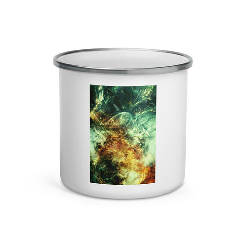 """Enamel Mug """"Of Lions and Butterflies"""" by Solar-sea"""