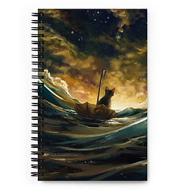 """Notebook """"Lost At Sea 2.0"""" by Hymnodi"""