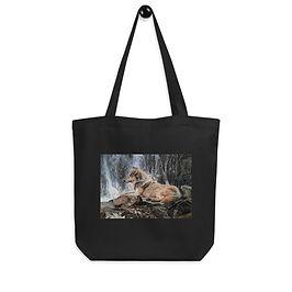 """Tote bag """"Wolf Waterfall"""" by Beckykidus"""