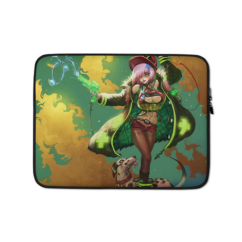 """Laptop sleeve """"Fiore Fighter"""" by Elsevilla"""