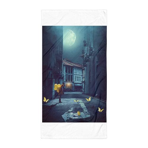 "Beach Towel ""Yellow Balloons"" by Elysekh"