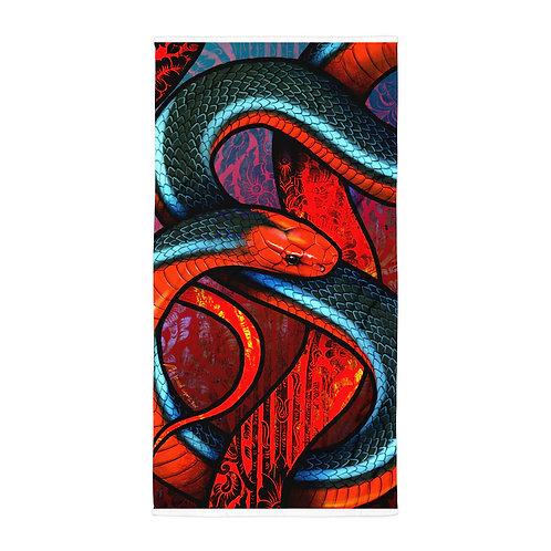 "Beach Towel ""Blue Coral Snake"" by ""Culpeo-Fox"""