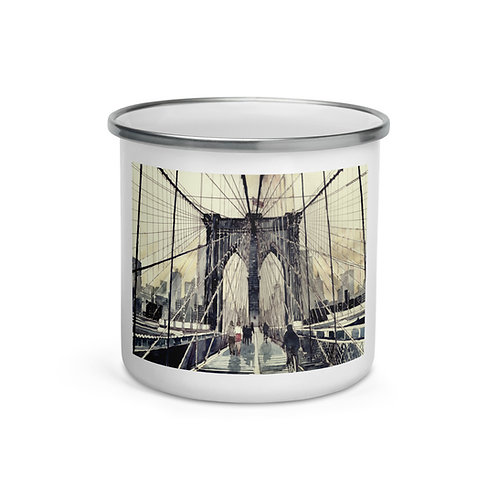 "Enamel Mug ""Brooklyn Bridge"" by ""Takmaj"""