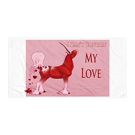 """Beach Towel """"I Can't Contain My Love"""" by Astralseed"""