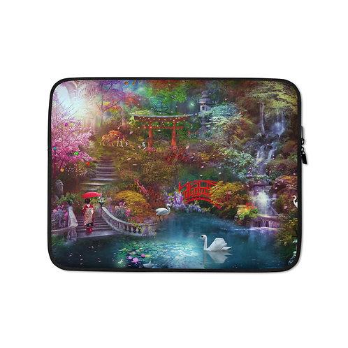 "Laptop sleeve ""My Japanese Garden"" by Phatpuppyart-studios"