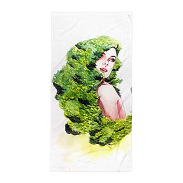 "Beach Towel ""Greens"" by Bikangarts"