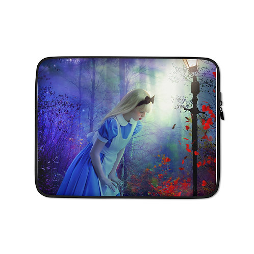 "Laptop sleeve ""Back to Wonderland"" by Phatpuppyart-studios"
