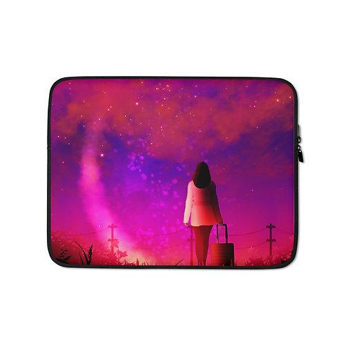 """Laptop sleeve """"Wishful Escape"""" by Saddielynn"""