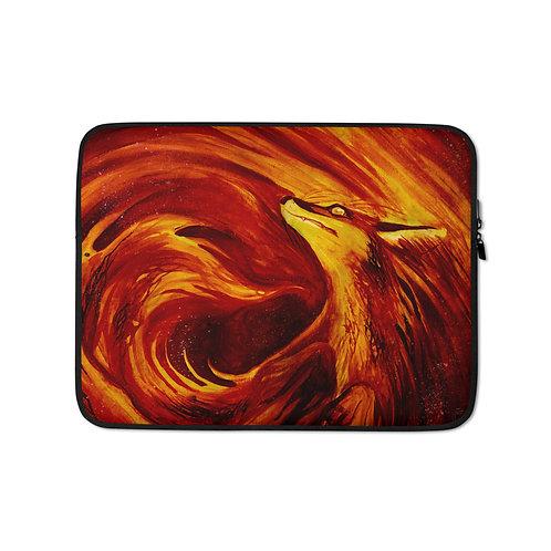 "Laptop sleeve ""Fires Embrace"" by Culpeo-Fox"
