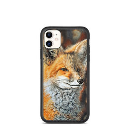 """iPhone case """"Bright Side of the Red Fox"""" by Beckykidus"""