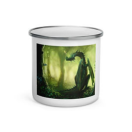 """Enamel Mug """"Forest"""" by Hymnodi"""