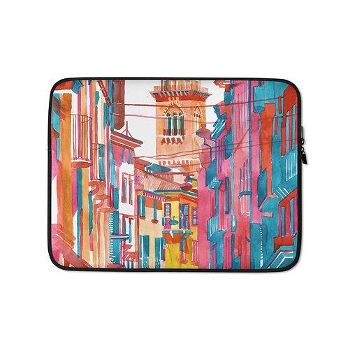 "Laptop sleeve ""Verona Street"" by Takmaj"