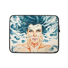 "Laptop sleeve ""Drown"" by Bikangarts"