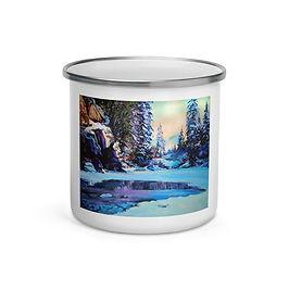 "Enamel Mug ""Cold Winter"" by ""Gudzart"""